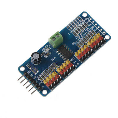16 Ch 12-bit Pwm Servo Shield Motor Driver I2c Module Pca9685 For Ardu B9