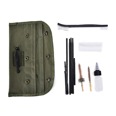 Hunting Rifle Shotgun Cleaning Kit fit for 22cal 5.56mm Pouch Gun Brushes Set Y