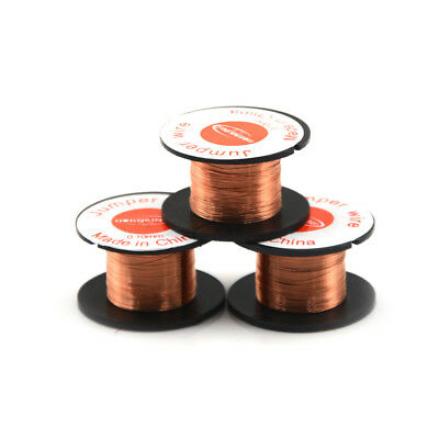 3 Roll Magnet Wire AWG Gauge Enameled Copper Coil Winding 0.1mm Fast US.