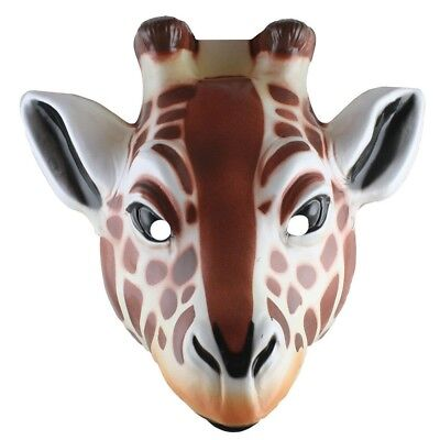 Giraffe Plastic Mask Halloween Costume Accessory Safari Animal Zoo Child Adult - Safari Animal Halloween Costume