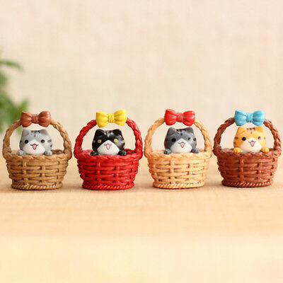 Mini Resin Ornament - Mini Cat Pet Statue Garden Ornament Miniature Figurine Resin Fairy Dollhouse new