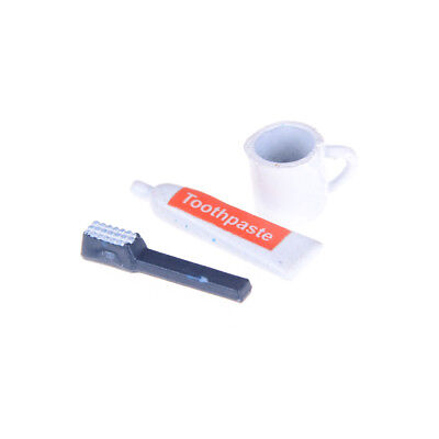 Miniature Toothbrush Set  for 1:12 Scale Dollhouse Bathroom Accessories
