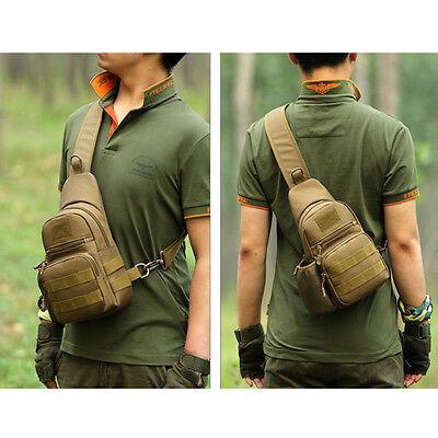 Nylon Military Tactical Travel Shoulder Messenger Sling Pack Chest Sport Bag Bbc