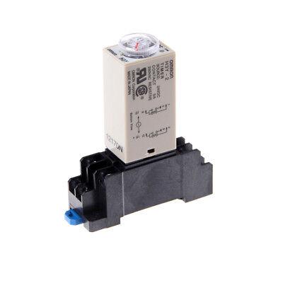 Dc 24v H3y-2 Power On Time Relay Delay Timer 0-60 Second Dpdt Base Socket Hi