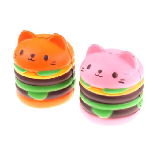 10CM Kid Toy   Squeeze Hamburger Cat Cake Slow Rising Stretc