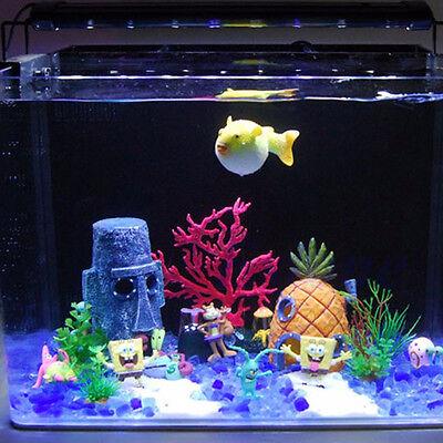 Aquarium Landscaping Decoration Spongebob House Aquatic Fish Tank Ornament Newnj