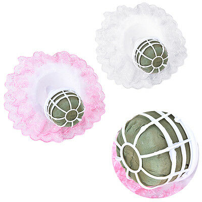 Bouquet Handle Holder + White Lace Collar for Bridal Floral Wedding Flower  SG ()