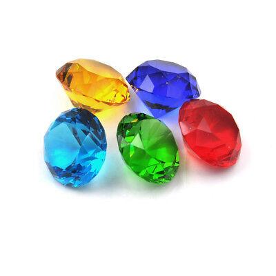 Glass Crystal Diamond Shape Paperweights Facet Jewel Wedding Decor Gift 30mm