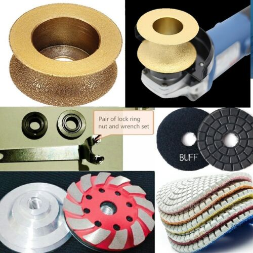 "Diamond 2"" Full Bullnose Router Bit polish pad grinding cup travertine concrete"