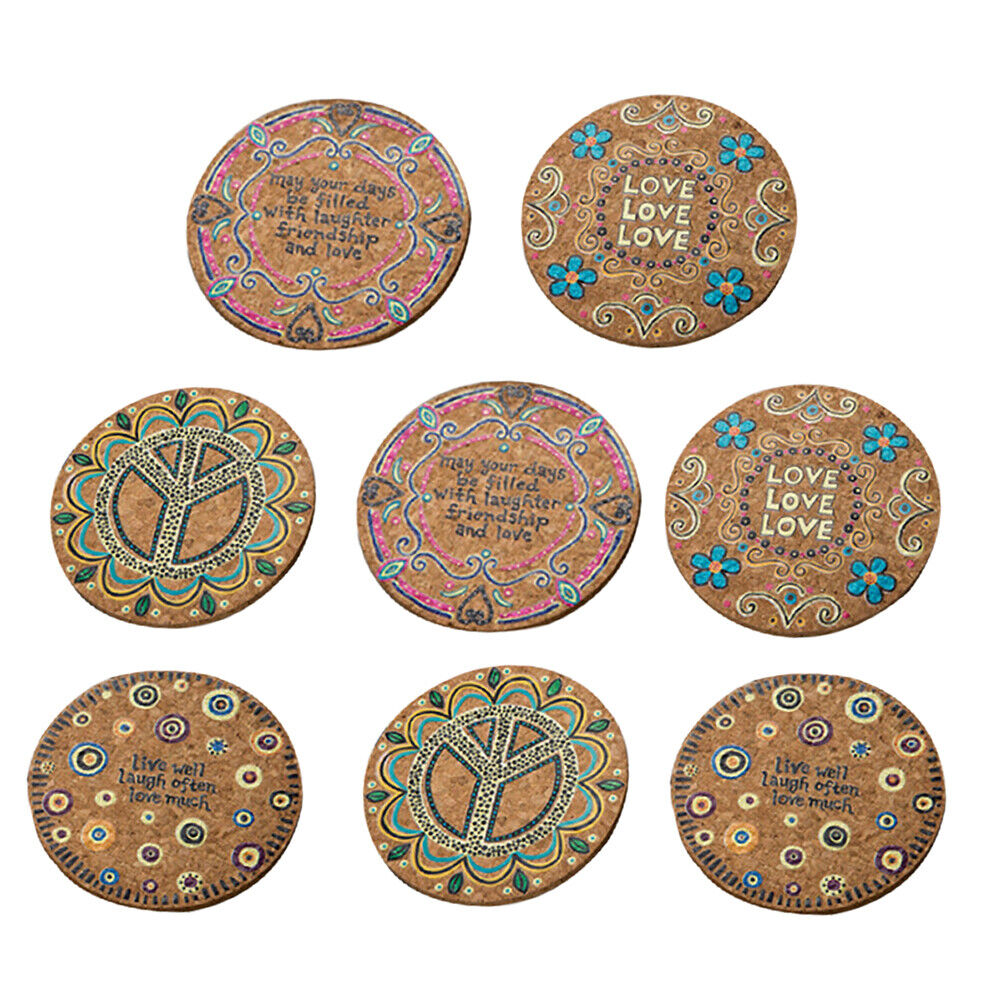 Lesser /& Pavey Set of 4 Guitar Coasters Music Themed Cork Backed Drink Mats
