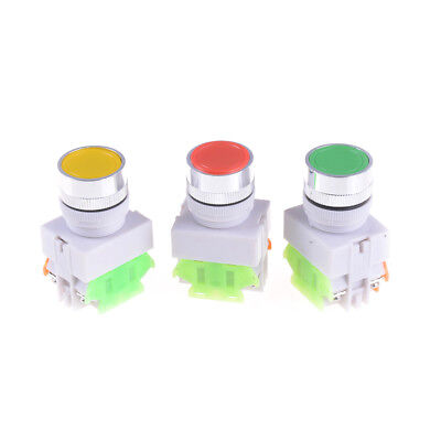 Electrical 22mm Emergency Stop Switch Flat Momentary Push Button 1no 1nc Fj