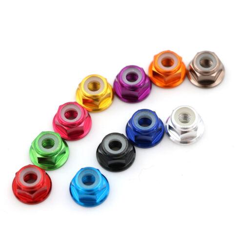 4Pcs RC HSP 102049 02190 Aluminum Nylon Nut M4 For 1:10 Upgrade Part bd
