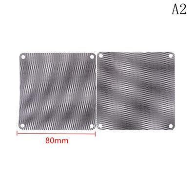 4pcs 80x80mm Computer Mesh Fan Cooler Dust Filter Dustproof Case Cover(Nice GY