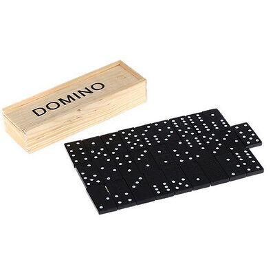 Holz Domino Box Spielzeug Spiel Set 28 Reise Domino Ideal Kinder Kinder Erw CBL (Holz Domino Set)