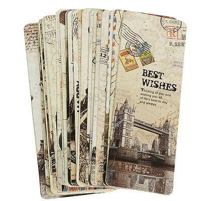 30pcs etichetta di segnalibro di carta vintage Parigi Torre Eiffel