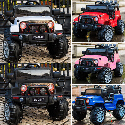 New 12V 3Speed Electric Kids Ride On Jeep Car Remote Control Children Gifts.