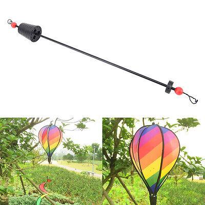 Rainbow Stripe Windsock Hot Air Balloon Wind Spinner Garden Yard Outdoor Deco*ZF