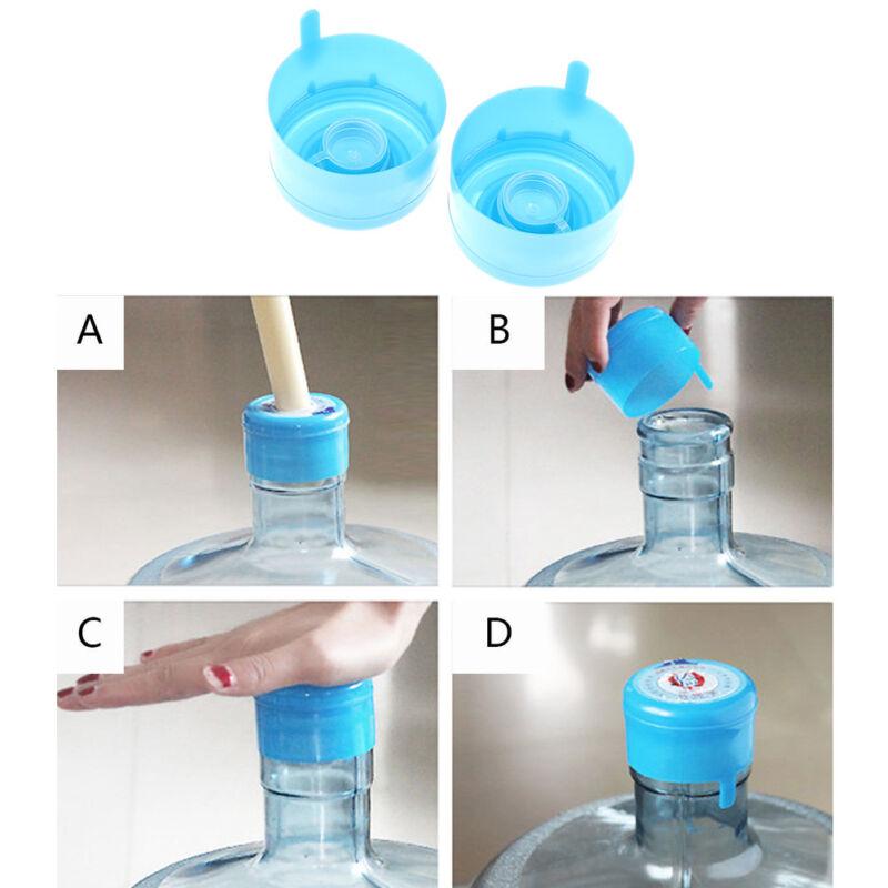 5Pcs*Reusable Water Bottle Snap On Cap Replacement 55mm 3-5
