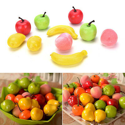 10X Artificial Decorative Plastic Fruit Home Decor Garden House Kitchen FO