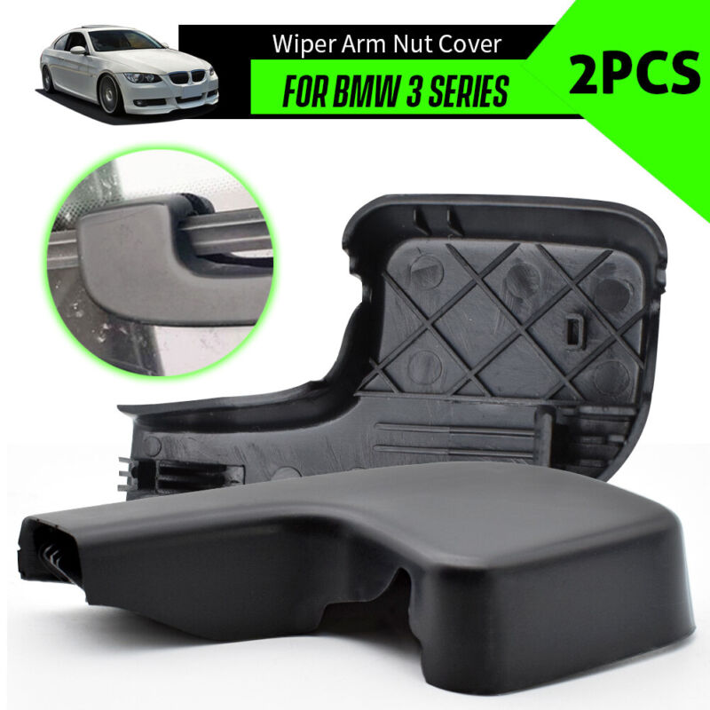 Genuine Rear Wiper Arm Nut Covers Caps 2pcs BMW 3 Series E90 E91 E92 E93 2004