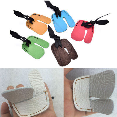 1 Finger Tab Guard Protector Glove Cow PU Leather Archery Shooting Hunting Bow I