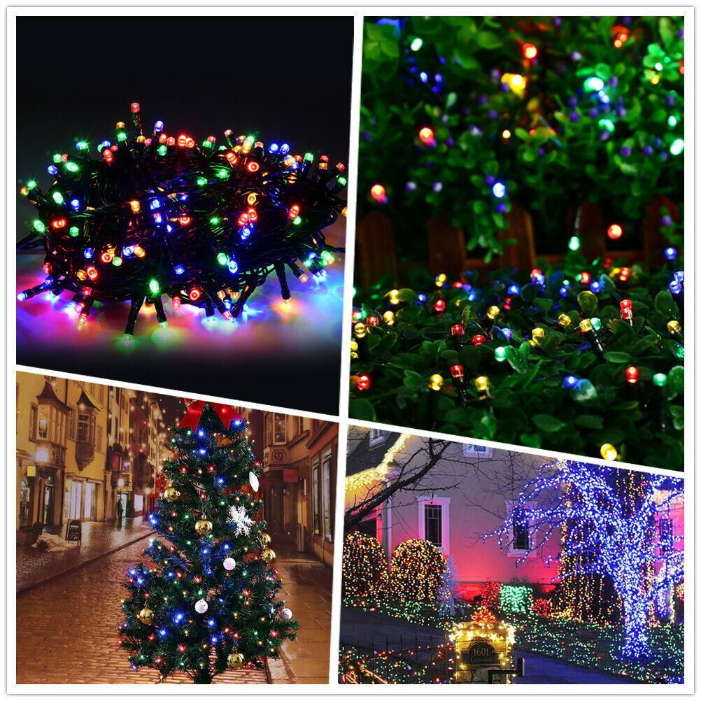 50M 250 LED Lichterkette Weihnachtsbaum Tannenbaum Christbaum Beleuchtung BUNT