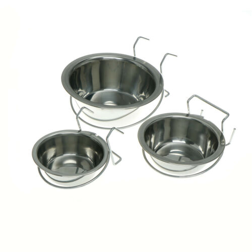 Stainless Steel Hanging Bowl Feeding Bowl For Pet Bird Dog F