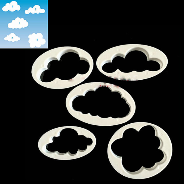 5x Cloud Cake Cutter Mold Fondant Pastry Cookie Sheep Mould Decor DIY Tool MO