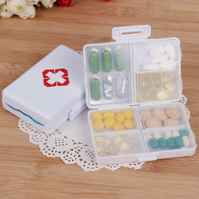 7 days Foldable Mini Pill Box Container Drug Tablet Storage Travel Case HoldeDDE Pill Box-container