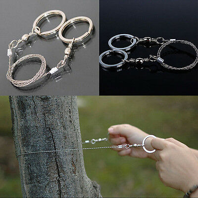 Emergency Survival Gear Steel Wire Saw Camping Hiking Hunting Climbing Gear DU