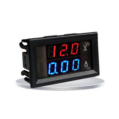 DC 0-100V 10A Dual LED Digital Voltmeter Ammeter Voltage AMP Power BR