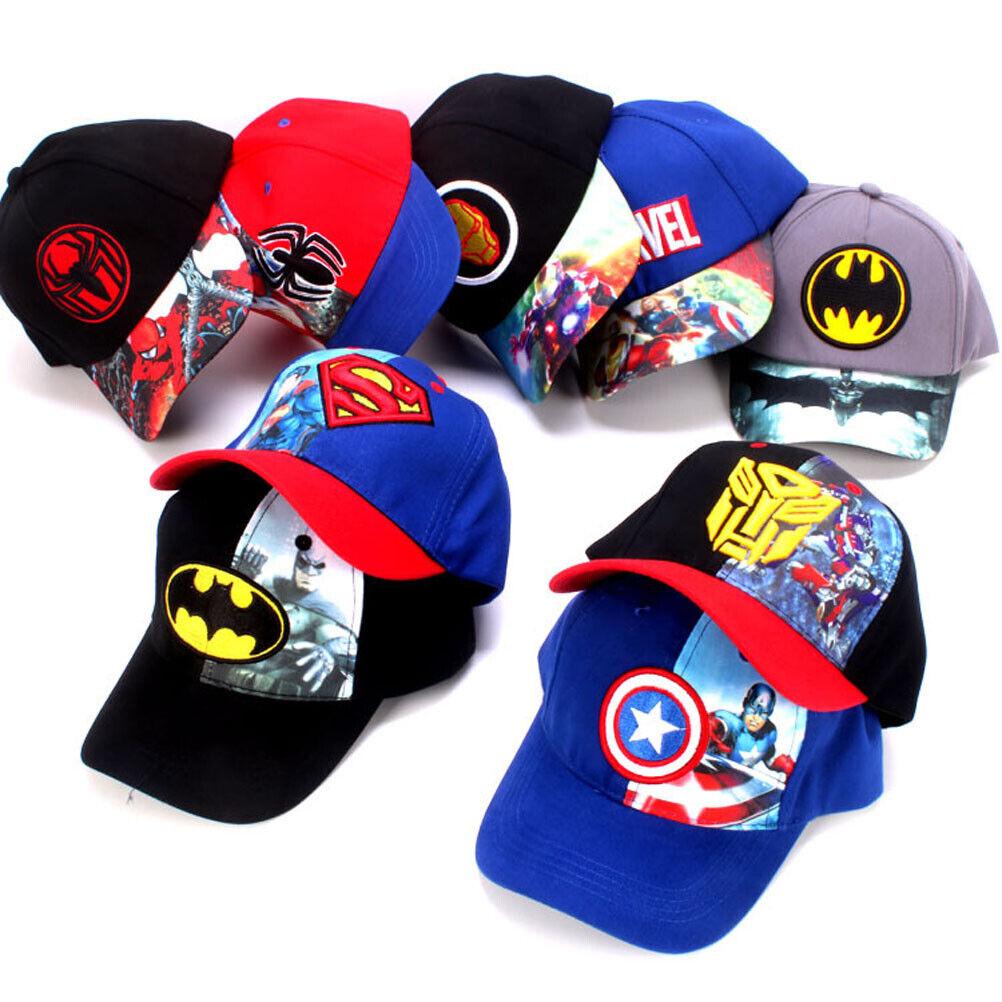 Kids Marvel Superhero Baseball Caps Toddler Boys Sun Hat Summer Snapback  Caps   eBay
