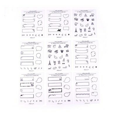 8sheets/set Decoration Sticker For Polaroid Photo Scrapbook