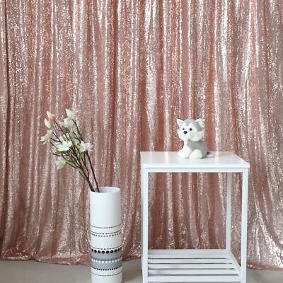 6FTx6FT Rose Gold Sequin Wedding Backdrop Photo Booth Photo Curtain Background](Photo Booth Curtains)