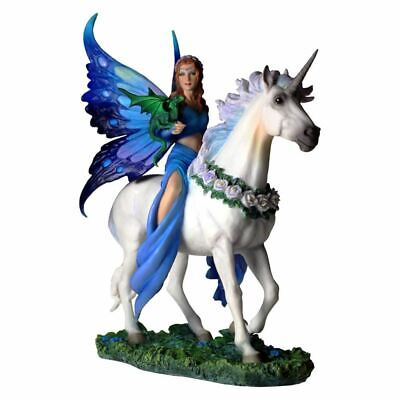 Anne Stokes Realm of Enchantment Unicorn Collectable Figurine Ornament - Boxed