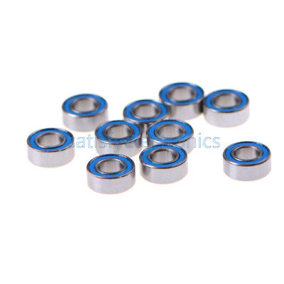 10pcs Miniature Ball Bearings With Blue Plastic Cover 5104mm Mr105-2rs
