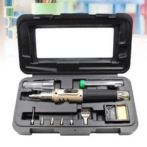 10-in-1 Auto Ignition Butane Gas Soldering Iron Set Cordless Pen Shape Tools Kit