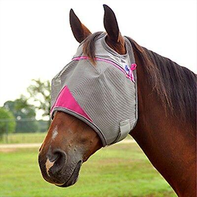 CASHEL FLY MASK ARAB COB SMALL QUARTER HORSE PINK TRIM sun protection flies off