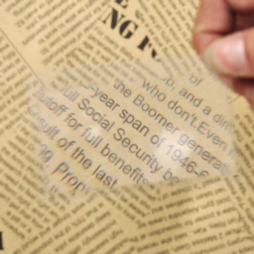 10x Magnifier Credit Card Fresnel Lens Magnifying Sheet Survival Fire Lightin VI