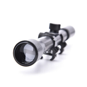 4X20 Telescopic Scope Sight Mounting Rifle Airgun Gun for Hunting Free RH