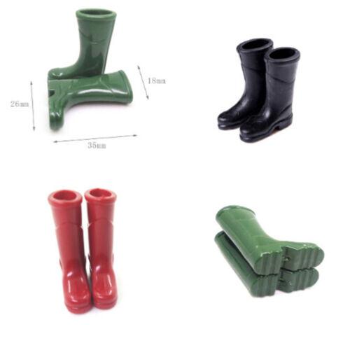 1Pair 1//12 Dollhouse Miniature Rubber Rain Boots Home Garden Yard Dec^^