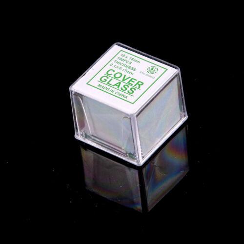 100 pcs Glass Micro Cover Slips 18x18mm - Microscope Slide Covers n_WK