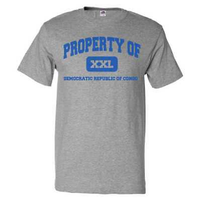 Property Of Democratic Republic Of Congo T Shirt Funny Tee