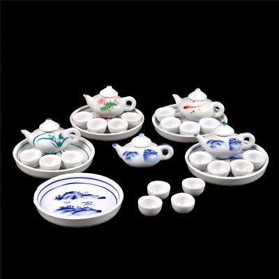 Kid Pretend Play Miniature Dining Ware Porcelain Tea Set Dish Cup Plate ST