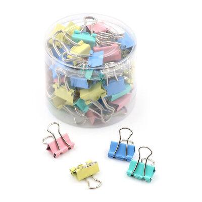 60pcs 15mm Colorful Metal Binder Clips File Paper Clip Holder Office Suppl Se