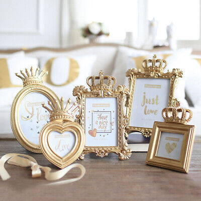Luxury Baroque Style Gold Crown Decor Creative Resin Picture Desktop - Crown Frame