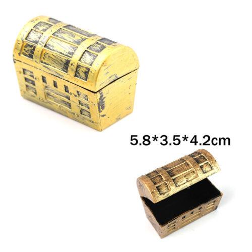 2Pcs Dollhouse Miniature Pirate Jewelry Box Case Vintage Treasure.US