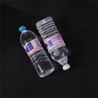 2pcs Bottle Water Drinking Miniature DollHouse 1:12 Accessory Collection FSCA
