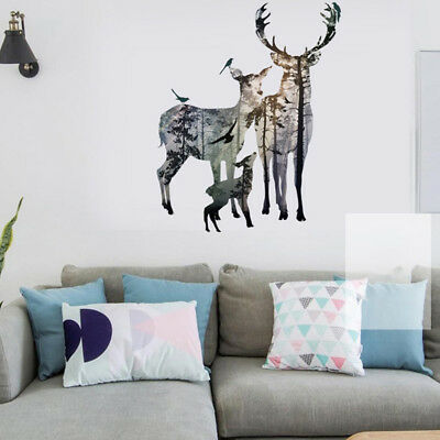 Home Decoration Signs Removable Deer Forest Wall Sticker Decals Art Mural Vinyl Home Room Decor Diy Kd Vintage Home Decor Ideas Pinterest