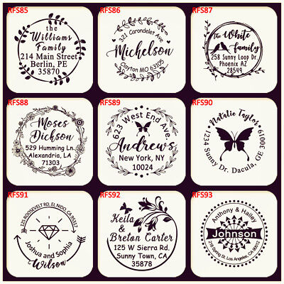 Custom Rubber Stamp Self Inking Business Family Return Address Wedding Stamper - Self Inking Stamper
